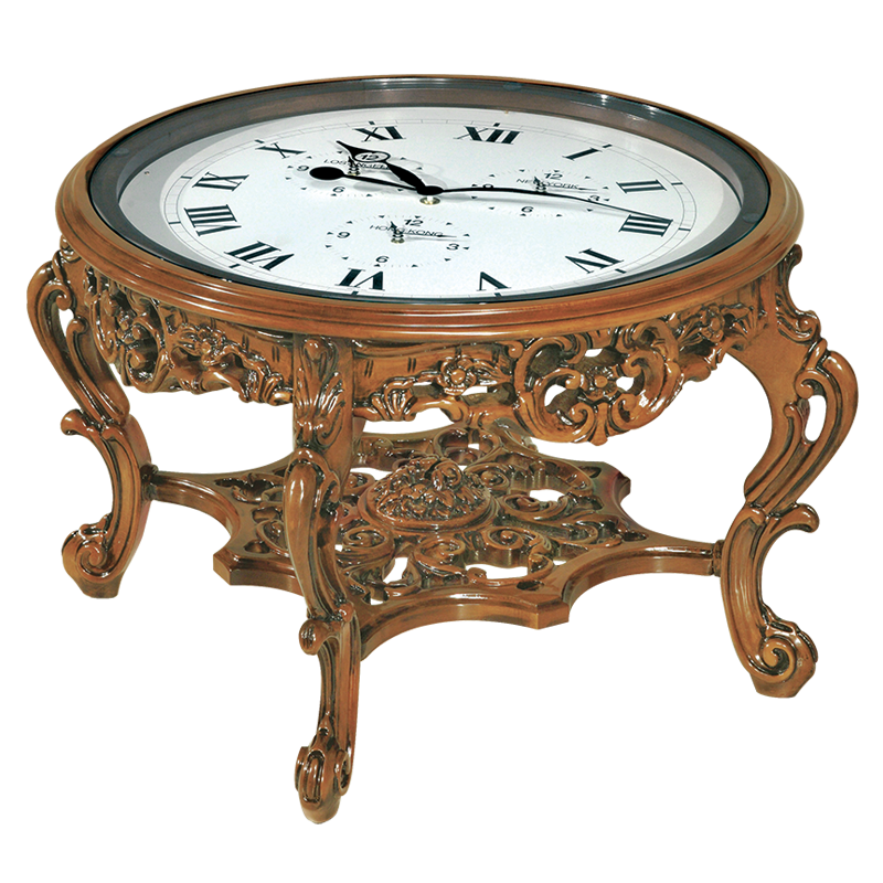This Antique Table Clock Is Actually A Real Cocktail Table: It Would Be  Perfect Close To The Sofa In A Living Room. It Is Hand Carved By The Artist  ...