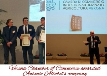 Verona Chamber of Commerce awarded Antonio Altobel's company